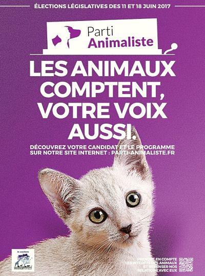 Affiche Parti animaliste