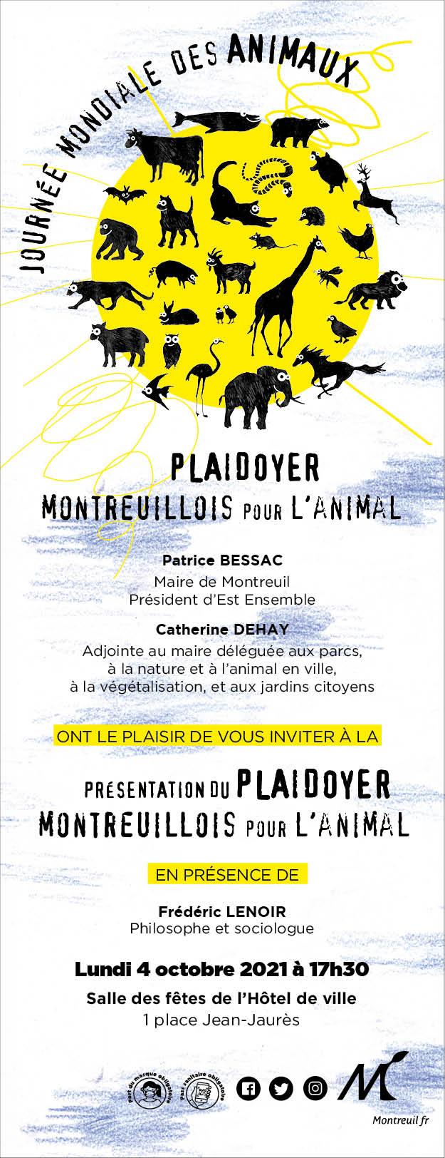 Affiche Montreuil plaidoyer animal 2021