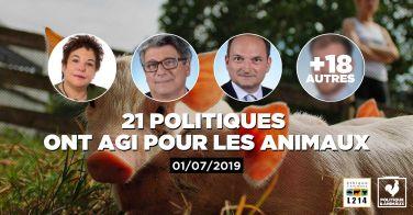 Logo 9 députés demandent une interdiction des recherches zootechniques destinées à augmenter la productivité des animaux d'élevage