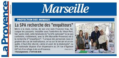 Article de La Provence Marseille