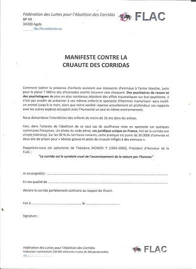 Manifeste de la FLAC