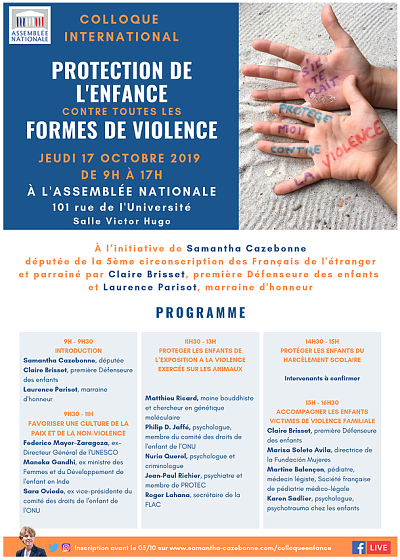 Programme Colloque 17 octobre